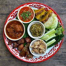 culture of thailand  a selection of northern thai dishes served as starters