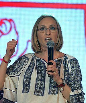 Gabriela Szabo - Image: Lansarea candidaturii Gabrielei Szabo pentru Camera Deputatilor, Voluntari 04.05 (43) (14271151217) (cropped)