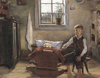 Helena Westermarck - Children in a Cottage (1892)