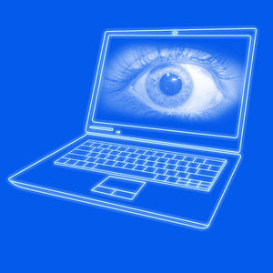 Dataveillance - Image: Laptop spying