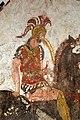 Lastra dipinta con cavaliere armato e corazza a dischi di tipo iberico, 350-300 ac ca., da tomba 58 della necropoli di andriuolo a paestum (man di paestum) 02.jpg