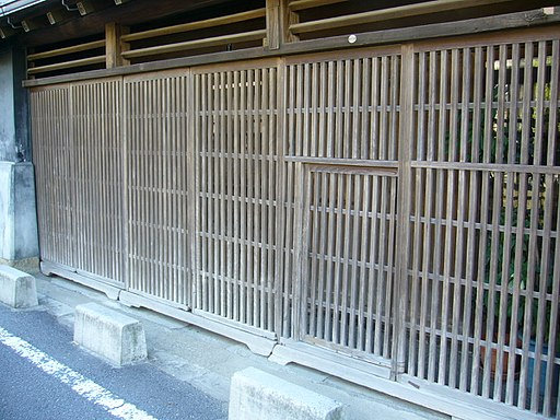 Lattice-door,koushi-do,katori-city,japan