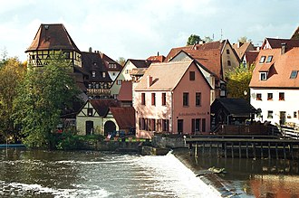 Lauf an der Pegnitz - Lauf an der Pegnitz, View to the old town and Pegnitz