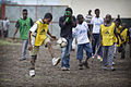Launching of a soccer school by MONUSCO Urugayan peacekeepers in Don Bosco college Goma (14061394862).jpg