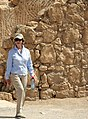 Laura Bush visits Masada National Park.jpg