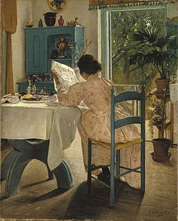 At Breakfast by L. A. Ring