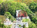 Laxey Wheel from the Tram - panoramio (1).jpg