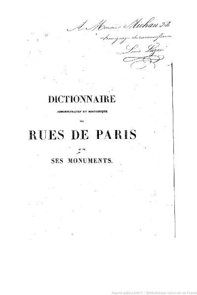 File:Lazare - Dictionnaire administratif et historique des rues de Paris et de ses monuments, 1844.djvu