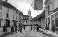 Le Abrets, quartier de l'église en 1905, p 4 de L'Isère les 533 communes - photo F. Vialatte, Oyonnax.tif