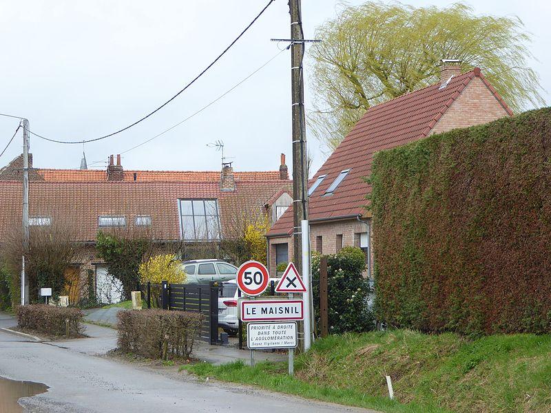 City limit Le Maisnil, France