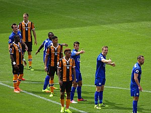 Luis Hernández Rodríguez - Hernández (centre) in a league match against Hull City at the KCOM Stadium in August 2016