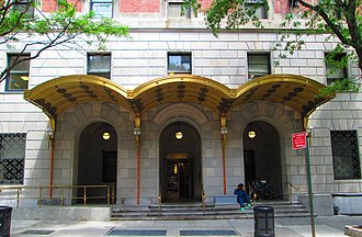 Lenox Hill Hospital - The entrance to the Sherman and Gloria H. Cohen Plaza and Gallery at 125 East 76th Street