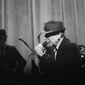Trilby - Leonard Cohen wearing a Trilby