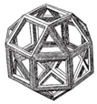 Rhombicuboctahedron as published in Pacioli's Divina Proportione.