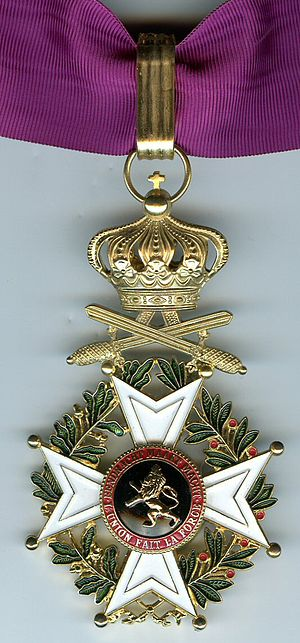 Orders, decorations, and medals of Belgium - Image: Leopold Order Commandeur Militaire post 1952