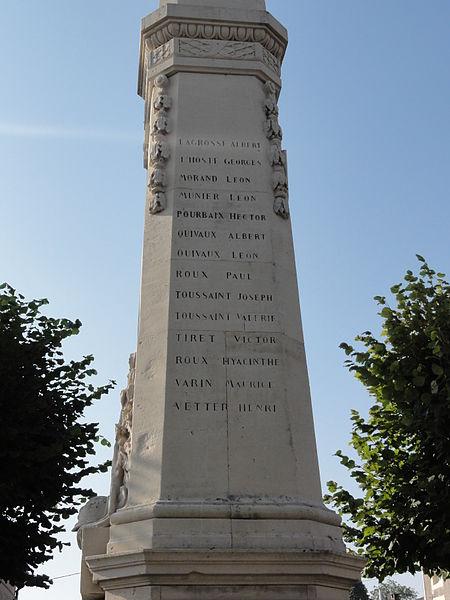 Les Monthairons (Meuse) monument aux morts