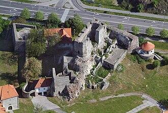 Levice - Levice castle, Slovakia, castle, aerial photography