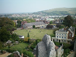 Lewes Castle - Brack Mount and the bowling green