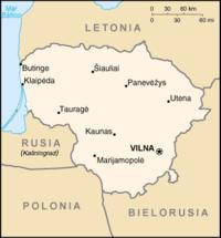 Mapa político de Lituania