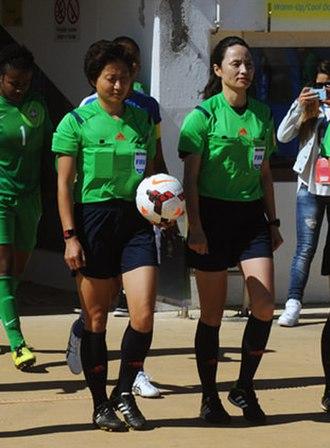 Ri Hyang-ok - Ri (right) at the 2015 Algarve Cup