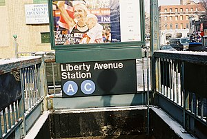 Liberty Avenue (IND Fulton Street Line) - One of the street-level entrances