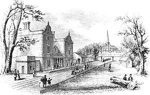 Lichfield City railway station - Lichfield City Station in 1849