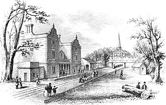 Lichfield City railway station - Lichfield City Station in 1849