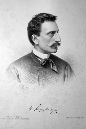 Sándor Liezen-Mayer - Sándor Liezen-Mayer (1882); lithograph by Adolf Dauthage