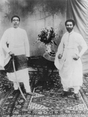 Iyasu V - Lij Iyasu with Dejazmach Tafari (later Emperor Haile Selassie I).