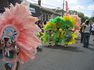 Uptown New Orleans - Mardi Gras Indians, second lines, and Carnival parades are part of Uptown's traditions.