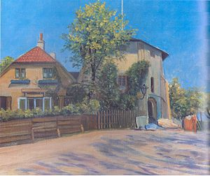 Lille Mølle, Christianshavn - Little Mill without its cap in 1932