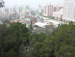 A section of Fengze District, seen from Lingshan Park