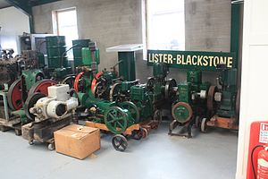 Blackstone & Co - Lister Blackstone sign at the Anson Engine Museum with collection of engines