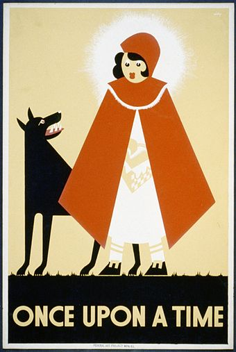 Works Progress Administration poster by Kenneth Whitley, 1939 Little Red Riding Hood WPA poster.jpg