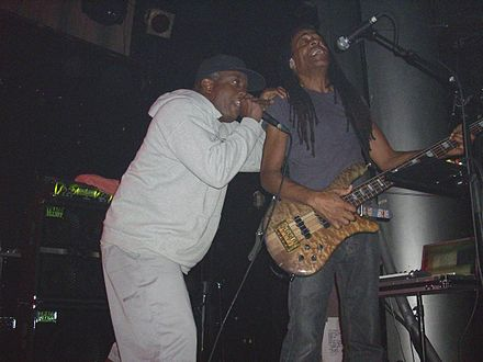 Corey Glover and Doug Wimbish (2008) Living Colour - Live Madrid 2008.jpg