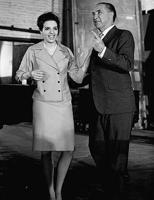 "Horace McMahon - McMahon and Liza Minnelli on TV series ""Mr. Broadway"", 1964."