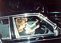 Liza Minnelli driving her half-sister Lorna Luft.jpg