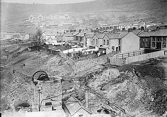 Llwynypia - Llwynypia looking north towards Llwynypia Hospital, (c. 1912)
