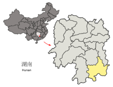 Location of Chenzhou Prefecture within Hunan (China).png