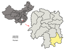 Chenzhou's administrative area in Hunan