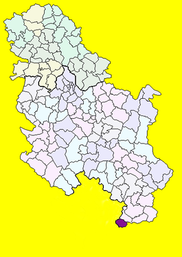 Location of Preševo, Serbia (map without Kosovo).png