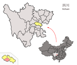 Location of Yanjiang within Sichuan (China).png