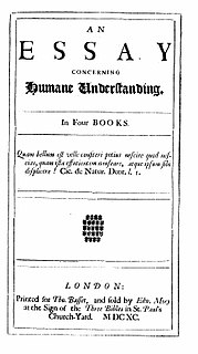 <i>An Essay Concerning Human Understanding</i> Philosophical work by John Locke