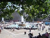 London , Westminster - Trafalgar Square Fountains - geograph.org.uk - 1225081.jpg