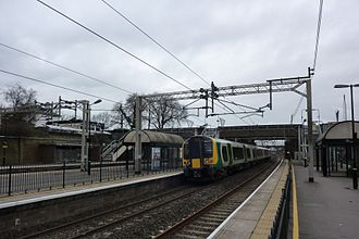 Tring railway station - London Midland train at Tring Station
