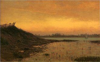 James Augustus Suydam - Long Island, oil on canvas, 1862.