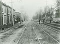 Looking south on Campbell Road (later Barrington Street) towards the corner of East Young street, Halifax, prior to 1917 explosion.jpg