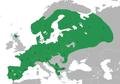 Lophophanes cristatus distribution map, detailed.png