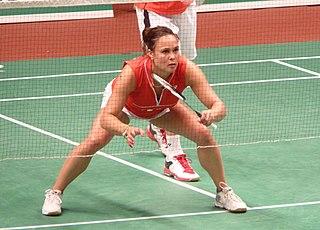 Lotte Jonathans Dutch badminton player