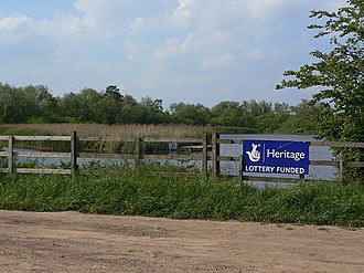 Heritage Lottery Fund - This sign indicates a Heritage Lottery funded project